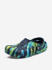 Шлепанцы детские Crocs Classic Lined Marbled Clog K