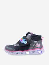 Кроссовки высокие утепленные для девочек Skechers Heart Lights